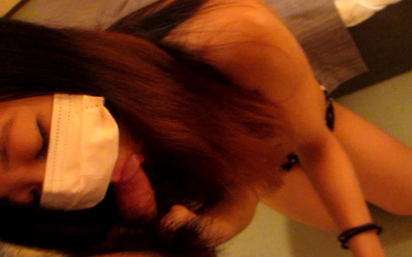 【素人動画】JDのねっとりフェラにたっぷり顔射!