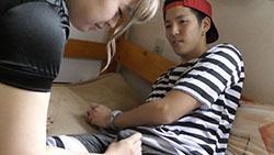 【個人撮影】ハロウィンでハメ撮り!イケメン囚人男子大生が巨乳ポリスお姉さんとエッチ