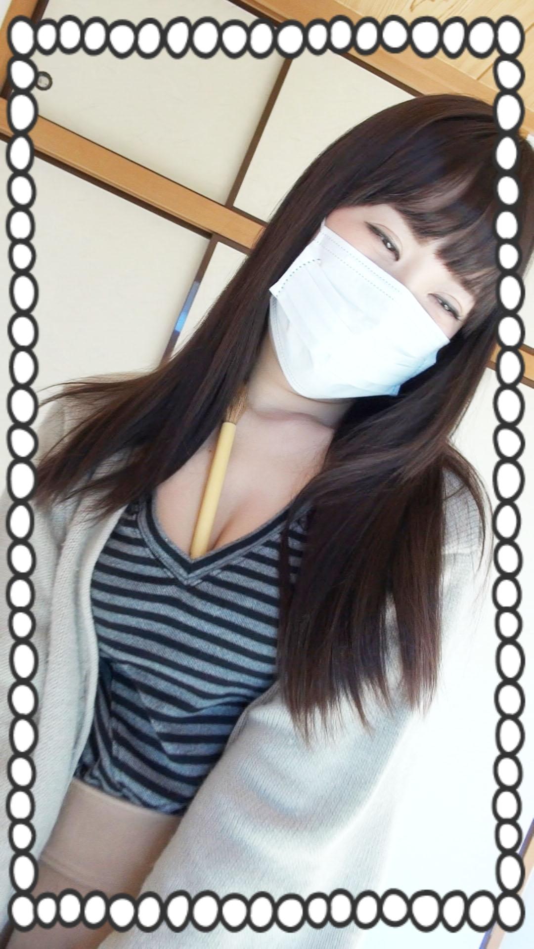 ¥で交w顔出しNG・マスクで隠した美形娘。薄毛マ〇コに生中〇し