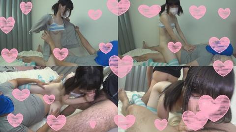 可愛い黒髪18歳(天使)ピンク乳首娘に容赦なく中出し